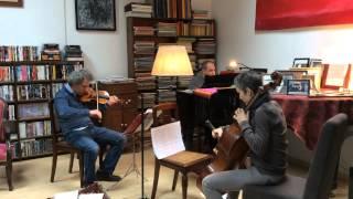 "Philippe Cassard, Anne Gastinel, David Grimal / Trio ""Subterfuges"" de Baptiste Trotignon"