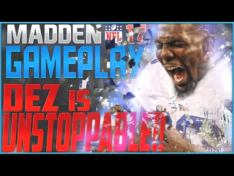 Dez is UNSTOPPABLE!!! Madden NFL 17 Gameplay vs AiiRxJones! Down to the LAST PLAY!!!