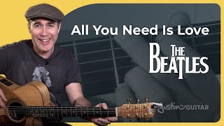 How to play All You Need Is Love by The Beatles - Guitar Lesson Tutorial (BS-926)