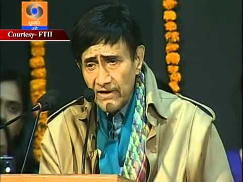 Devanand sahab at Film and Television Institute of India, Pune.
