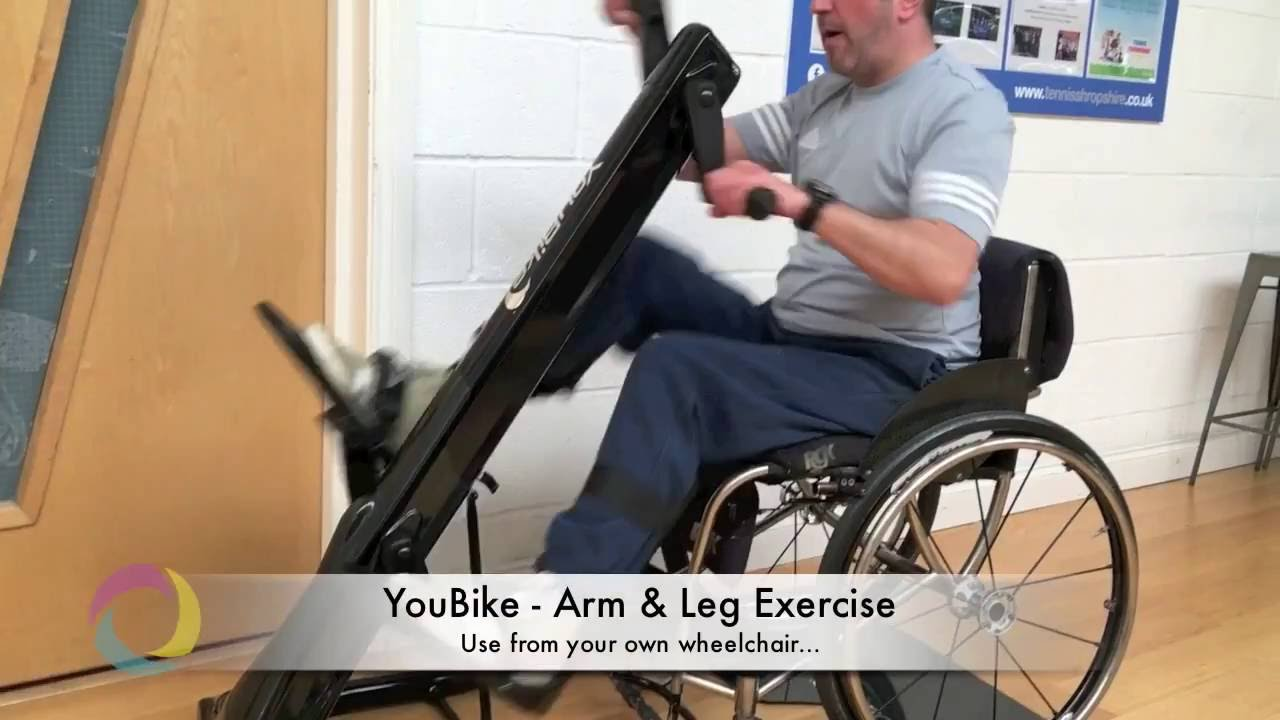 Youbike Exercise Bike Use From Wheelchair Youtube