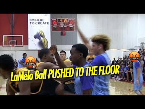 Thumbnail: LaMelo Ball Gets Pushed to the Floor by Jovan Blacksher Then Teammate stands up for Lamelo!
