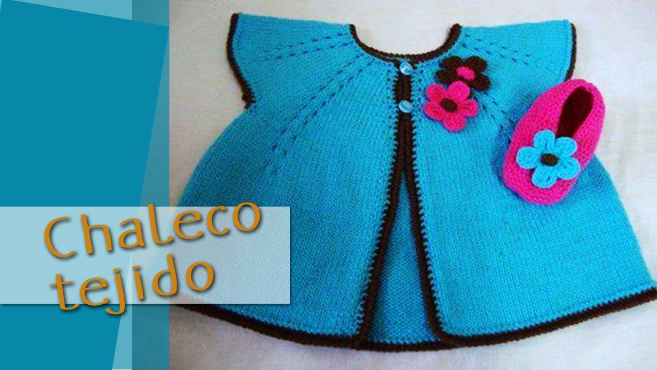 Chaleco Bebe Tejidos a Crochet - Sweater - YouTube