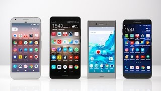 Google Pixel XL vs. Huawei Mate 9 vs. Sony Xperia XZ vs. Samsung Galaxy S7 edge: Benchmark   SwagTab