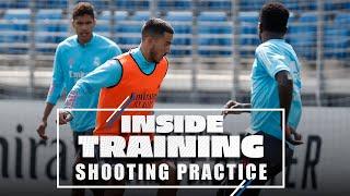 Benzema, Hazard & co. gear up for Osasuna! | Real Madrid shooting practice