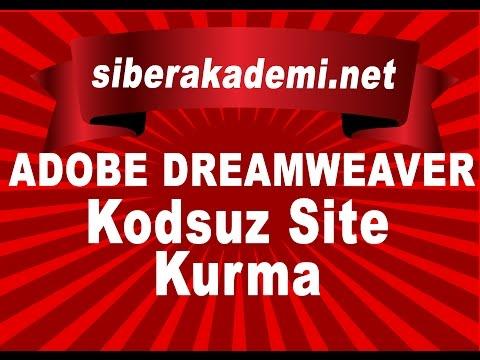 Adobe Dreamweaver ile Kodsuz Site Kurma Dersi 1