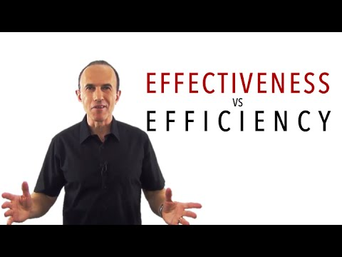 Effectiveness vs Efficiency