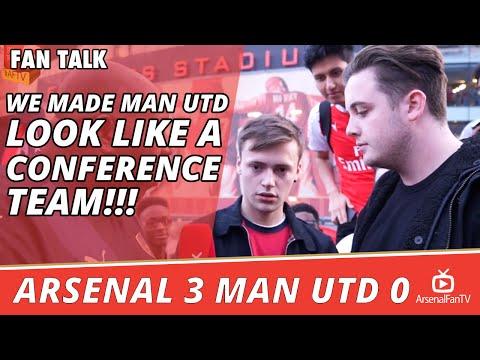 We Made Man Utd Look Like A Conference Team!!! | Arsenal 3 Man Utd 0