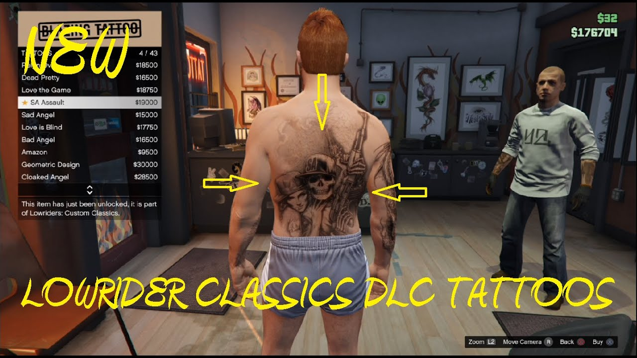 Gta 5 Bad Angel Tattoo