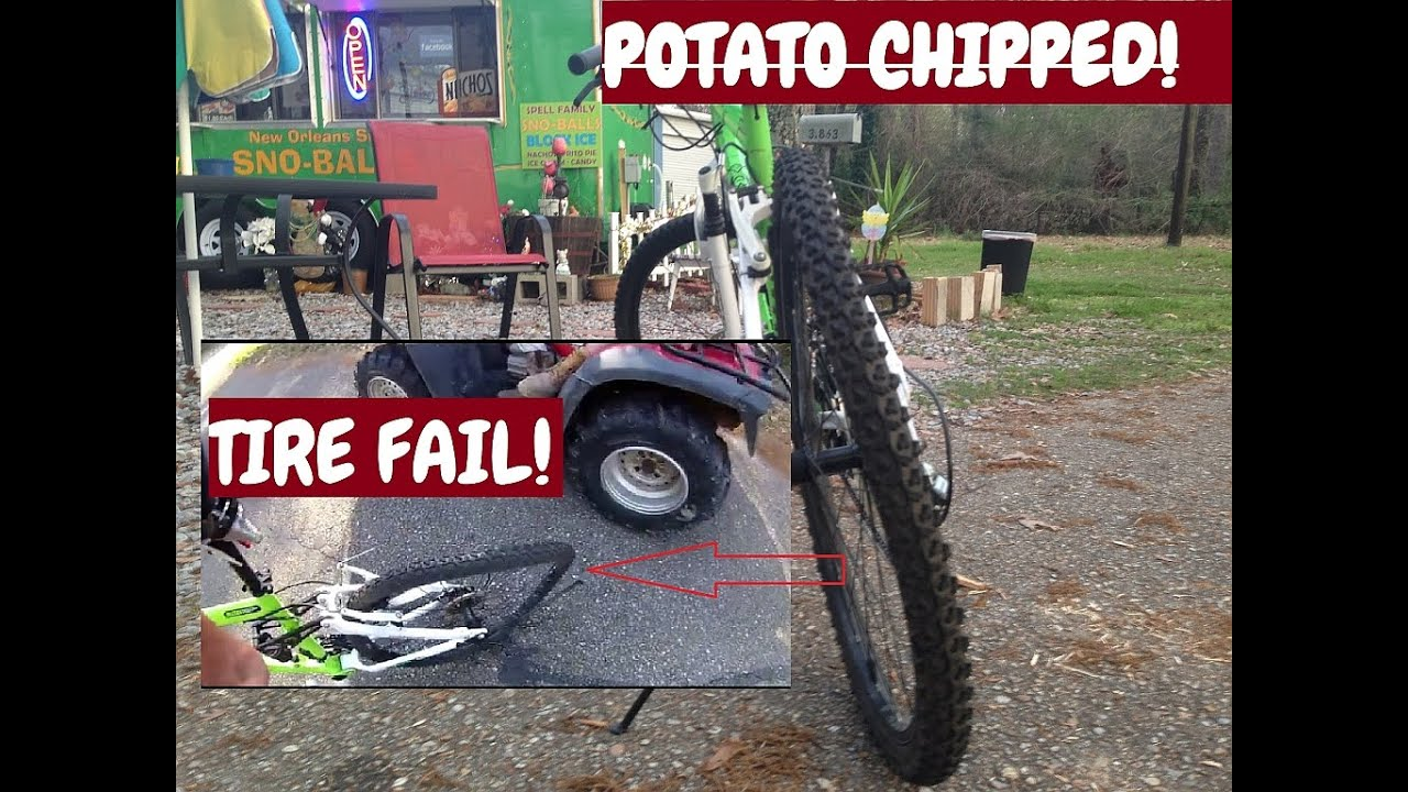 Potato Chipped! Bicycle Tire Fails, Bike Repair Shop Owner Blames Rider