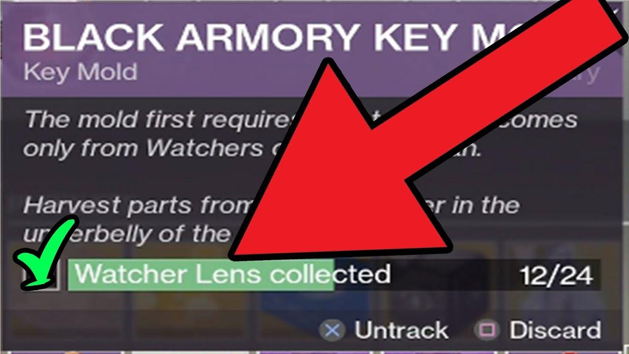 Black Armory Key Mold Quest Watchers Lens Destiny 2