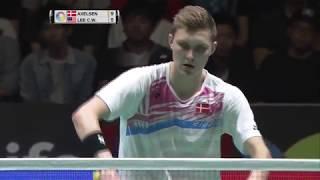 Daihatsu Yonex Japan Open 2017  Badminton F M5-ms  Viktor Axelsen Vs Lee Chong Wei