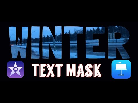 TEXT MASK effect in iMovie with Keynote 2020