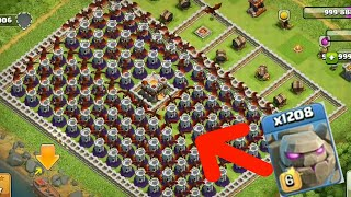1200 golem v/s 100 dragon towers OMG!-Clash of clans