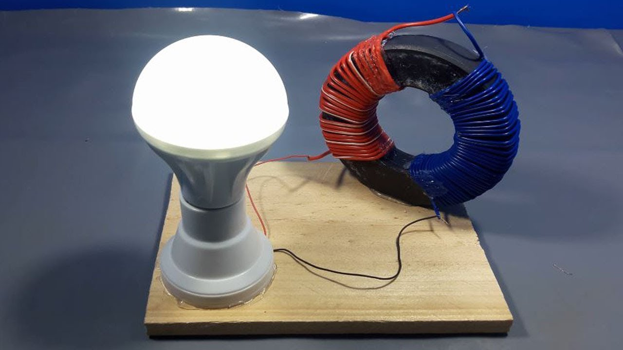 how to make free electricity generator for light at home _ science projects