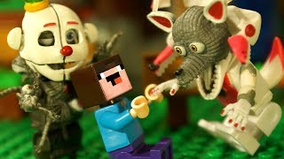ЛЕГО ФНАФ и Пиццерия Фредди FNAF и Лего НУБик Майнкрафт Мультики - Пять ночей с Фредди