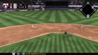 Scoop dan MLB The show franchise Yankees vs Red Sox Game 37
