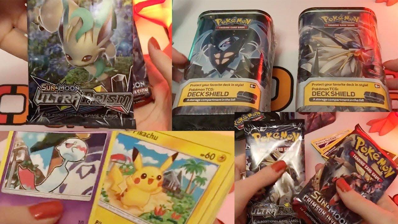 ASMR Pokemon Deck Shield Opening Ultra Prism & ASMR Pokemon Deck Shield Opening Ultra Prism - YouTube