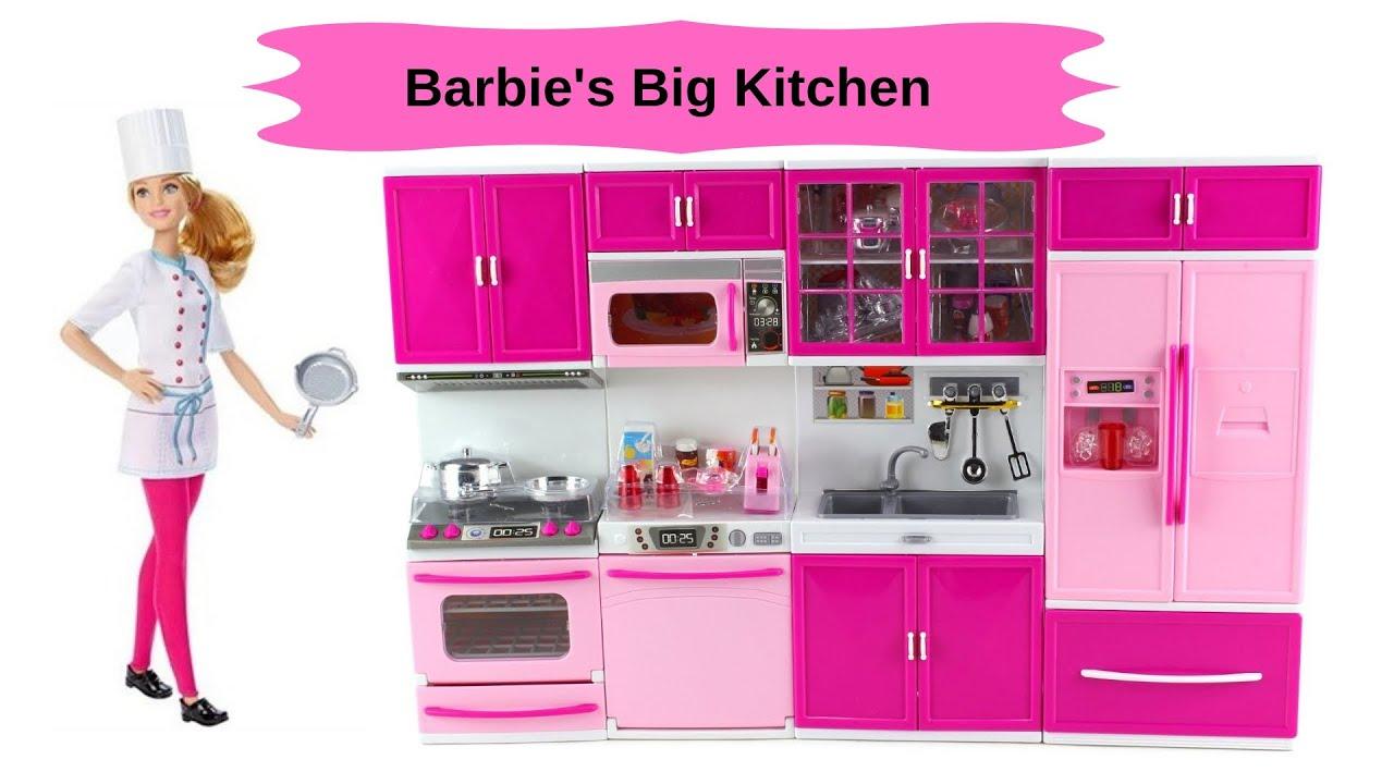 Big Barbie Kitchen Set Cheap Toys Kids Toys