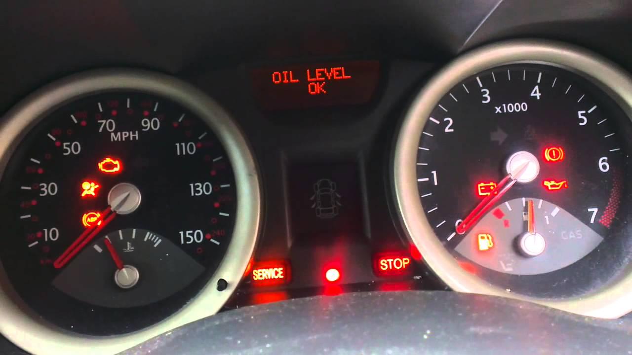 Renault Megane Service Light Reset You