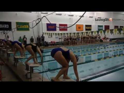 Second half start Shenendehowa at Saratoga girls swim meet. @saratogasports #518swim