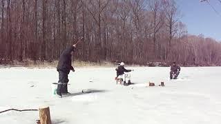 Рыбалка в Приморье. Последний лёд. Река Арсеньевка. 26 - 28.03.2016 г. (с 2018 г.)