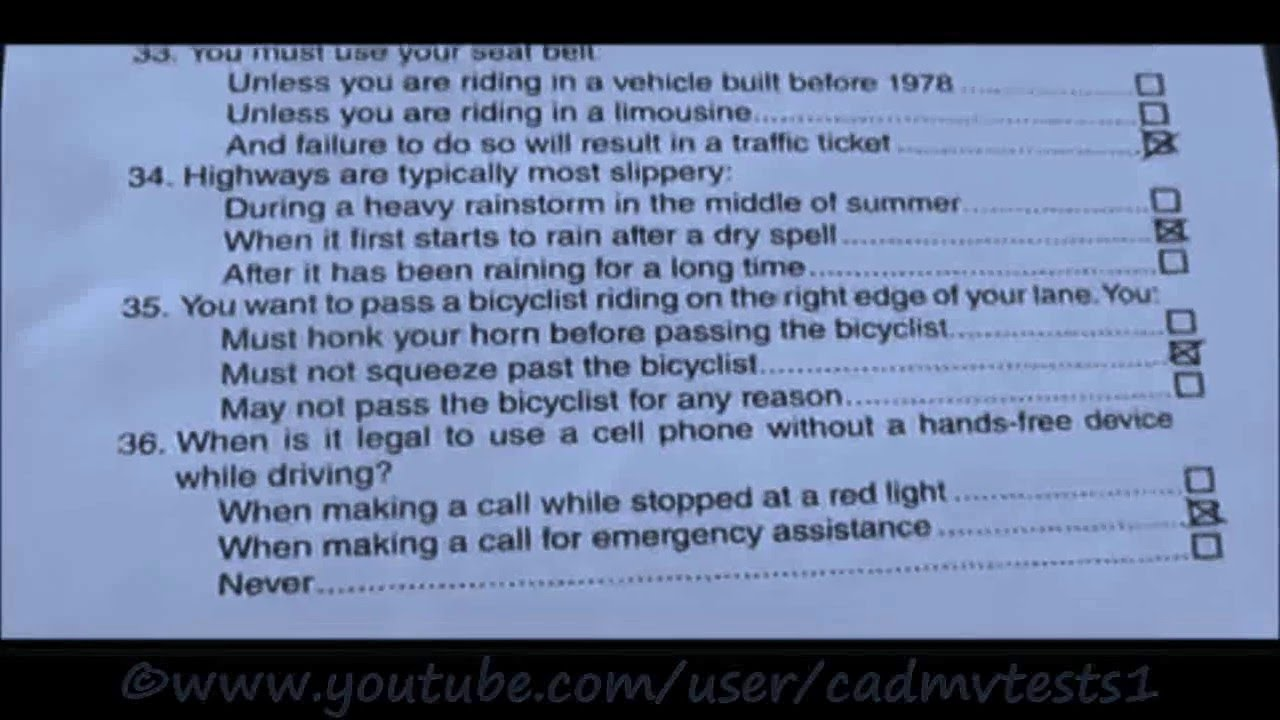 12 Different California DMV test papers .! TRICKY papers that you SHOULDN'T MISS! - YouTube