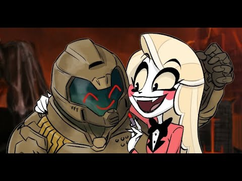doom slayer hazbin hotel meme