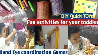 How to entertain your toddler with DIY toys idea
