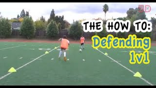 1v1 defending the basics in soccer