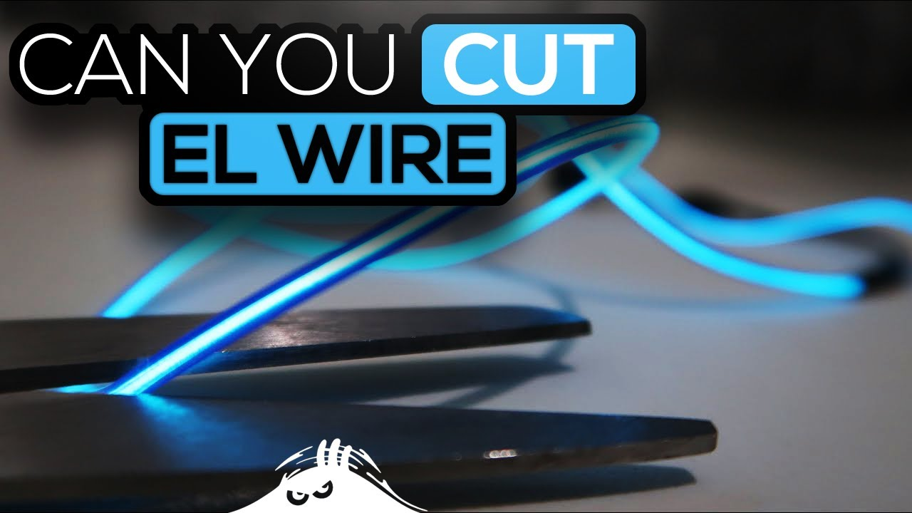 Can you cut EL wire ? - YouTube