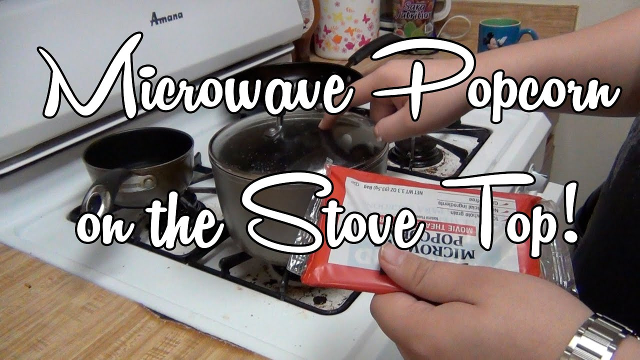 microwaveable popcorn in a pot