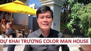 """Khương Dừa """"chưng diện"""" không giống ai dự khai trương Color Man House"""