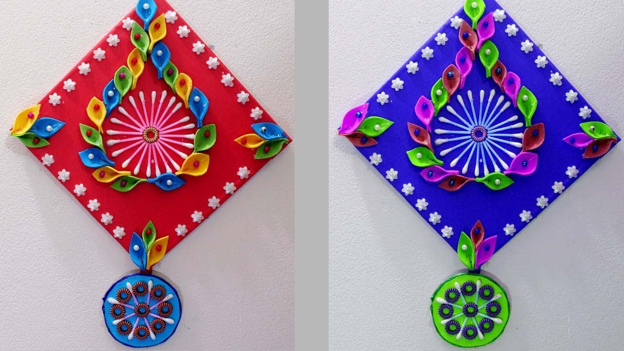 Wall Hanging Designs With Waste Material Wall Decor Diy