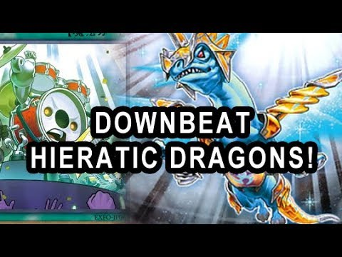USING NEW CARD FOR OLD DECK! DOWNBEAT IN HIERATIC DRAGONS! (ENDING IS SUPER PRANK) 😂
