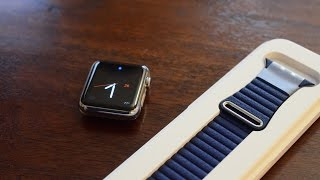 Скачать Apple Watch Bright Blue Leather Loop Band Review