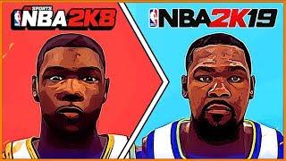 KEVIN DURANT evolution [NBA 2K8 - NBA 2K19]