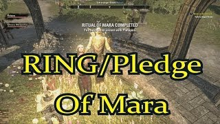 ESO - How to Use The Pledge of Mara / Get The Ring Of Mara