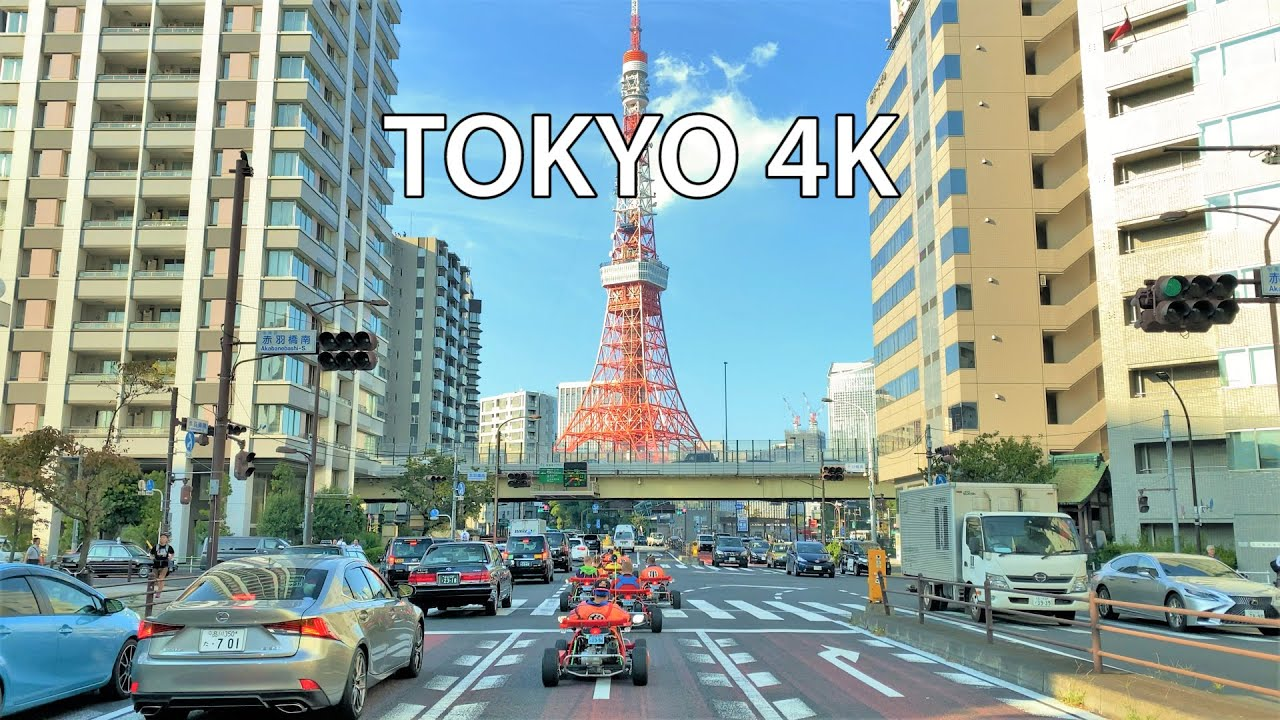 Tokyo 4K - 2020 Olympics Host - Driving Downtown