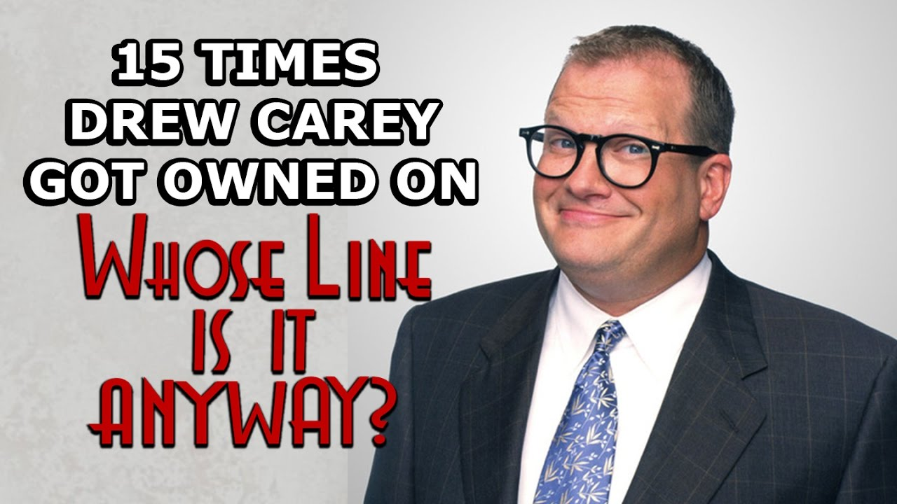 15 times drew carey got owned on quotwhose line is it anyway