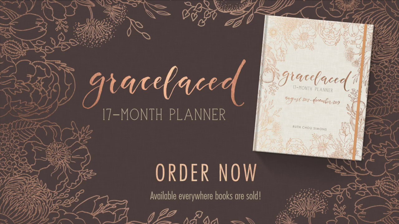 gracelaced 17 month planner by ruth chou simons youtube