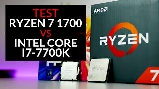 test amd ryzen 7 1700 vs intel i7 7700k gry aplikacje streaming