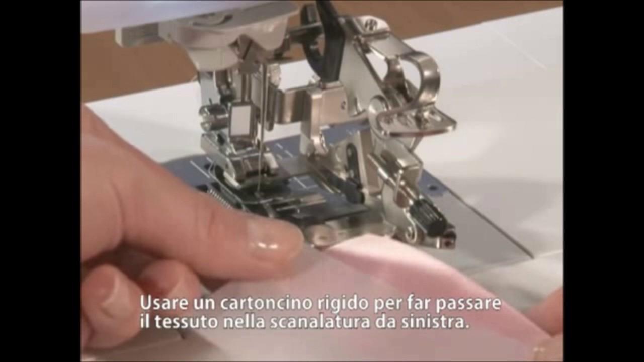 Piedino Plissettatore Pieghettatore Ruffler per Macchine da per Cucire