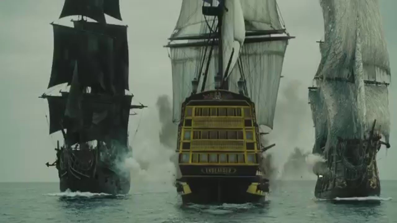Pirates of the Caribbean At Worlds End  Ship Battle  YouTube