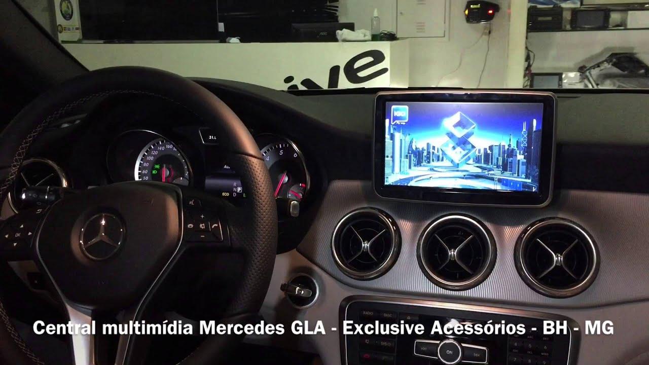 central multimídia mercedes benz classe gla 2014/acima - exclusive