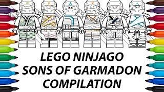 How to draw Lego Ninjago: Sons of Garmadon compilation video