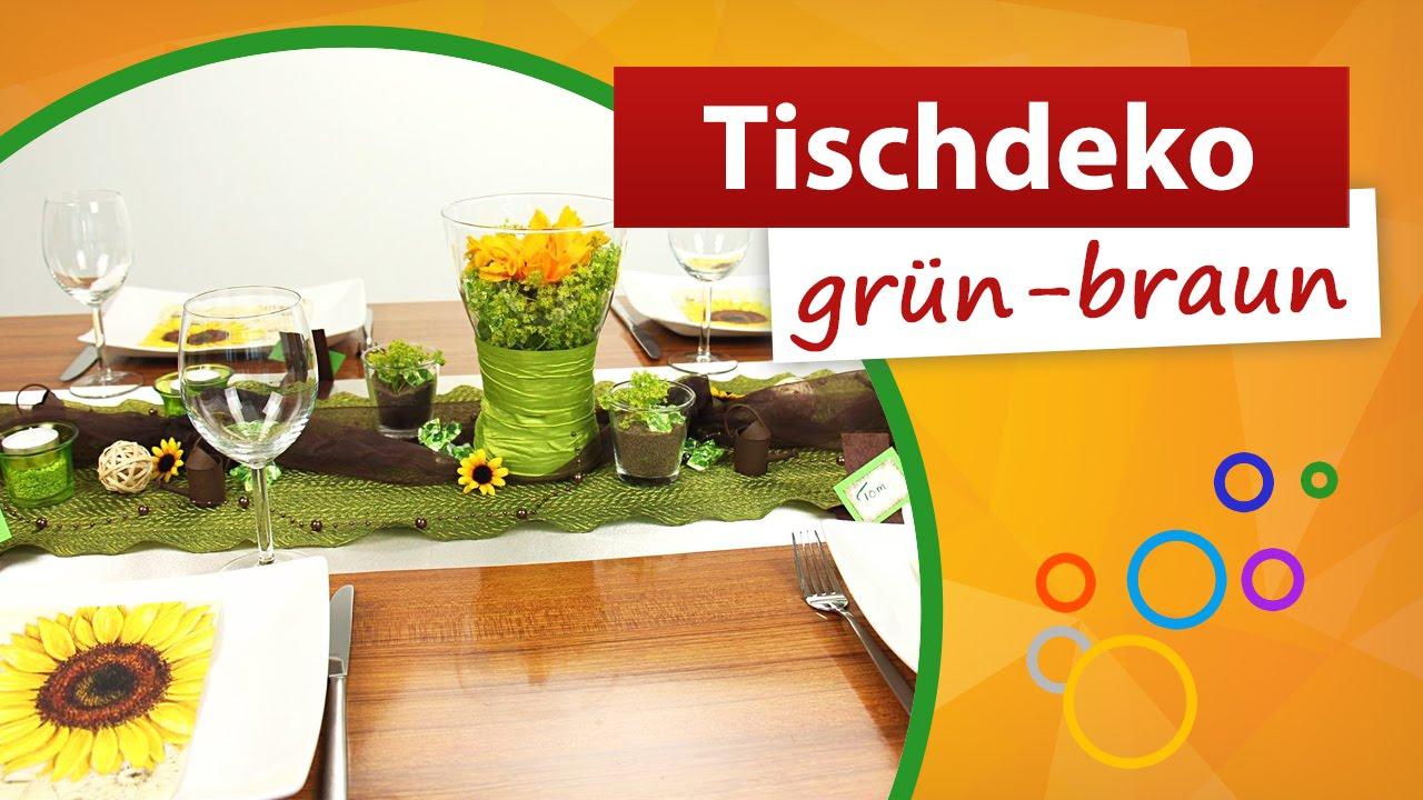 Tischdeko grün braun ♥ Tischdekoration - trendmarkt24 - YouTube