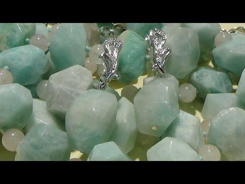 Серьги и бусы с натуральными камнями Радуга Самоцветов