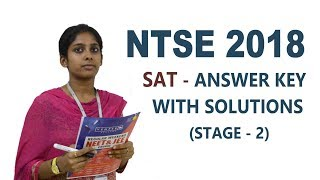 NTSE 2018 - SAT Answer Key with Video Solutions