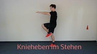 Knieheben im Stehen - Sportbegeistert.net
